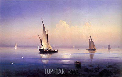 Calm Morning near Vico, 1841 | Aivazovsky| Painting Reproduction