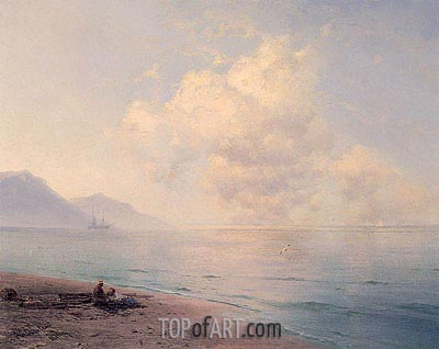 Clouds over a Calm Sea, 1891 | Aivazovsky| Painting Reproduction