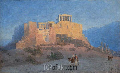 View of the Acropolis, undated | Aivazovsky | Painting Reproduction