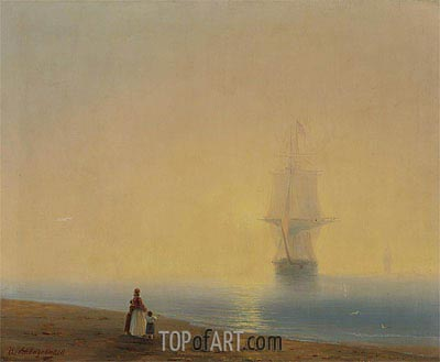 The Return, undated | Aivazovsky | Gemälde Reproduktion