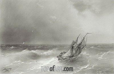 High Seas, 1874 | Aivazovsky| Painting Reproduction