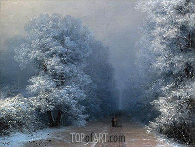 Winter Landscape, 1881 | Aivazovsky | Painting Reproduction