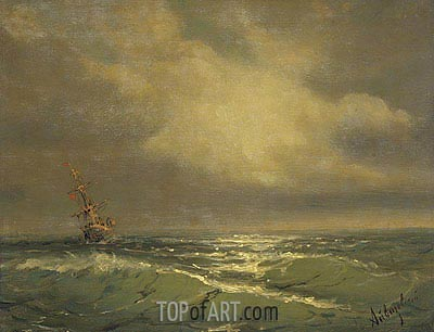Sunlit Waves, undated | Aivazovsky| Painting Reproduction