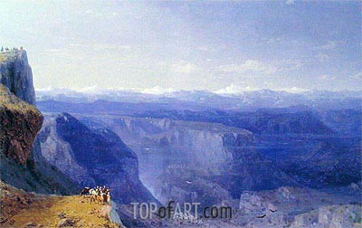 The Caucasus, 1868 | Aivazovsky | Painting Reproduction