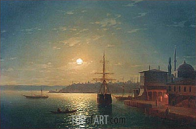 Golden Horn, Turkey, 1845 | Aivazovsky | Painting Reproduction