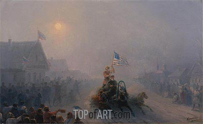 Distributing Supplies, 1892 | Aivazovsky | Painting Reproduction