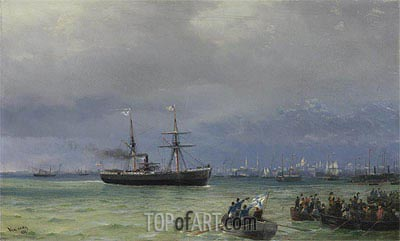 The Relief Ship: A Pair, 1892 | Aivazovsky| Painting Reproduction