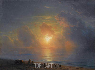 Aivazovsky | Sunset over the Crimean Coast, 1875