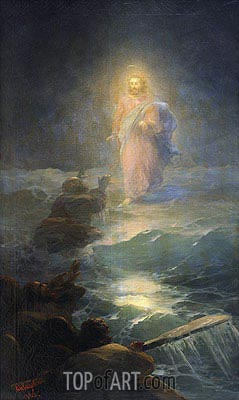 Walking on the Water, 1888 | Aivazovsky | Painting Reproduction
