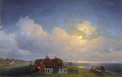 Chumaks on Rest, 1885 | Aivazovsky| Painting Reproduction