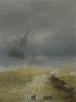 The Lifeboat, 1874 | Aivazovsky| Painting Reproduction