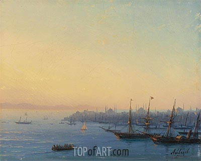Sunset over Constantinople,  | Aivazovsky | Painting Reproduction