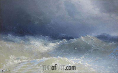 Among the Waves, 1898 | Aivazovsky| Painting Reproduction