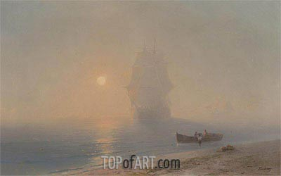 Sailing through the Haze,  | Aivazovsky | Painting Reproduction