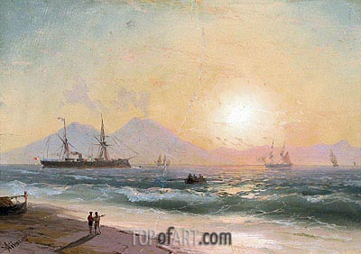Watching Ships at Sunset,  | Aivazovsky | Painting Reproduction