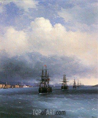 Aivazovsky | The Ottoman Fleet, 1873