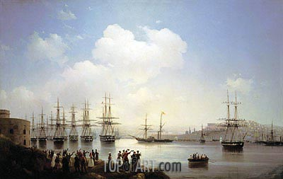 The Russian Squadron on the Sevastopol Roads, 1846 | Aivazovsky| Gemälde Reproduktion
