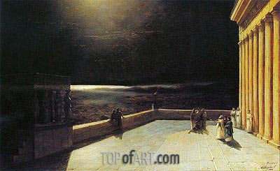 The Acropolis of Athens in Ancient Times, 1886 | Aivazovsky | Painting Reproduction