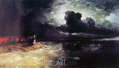The Crossing of the Red Sea, 1892 | Aivazovsky| Painting Reproduction