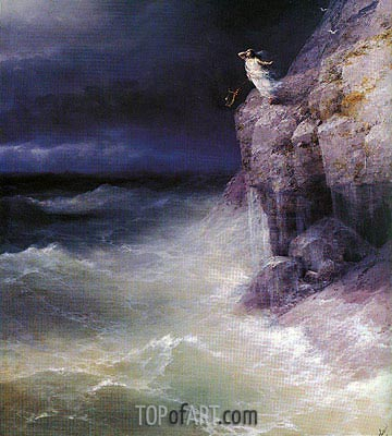 Sappho, 1893 | Aivazovsky| Painting Reproduction