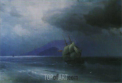 Turkish Ship at Night, 1874 | Aivazovsky| Gemälde Reproduktion