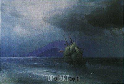 Turkish Ship at Night, 1874 | Aivazovsky | Painting Reproduction