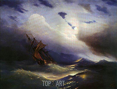 Storm, 1851 | Aivazovsky| Painting Reproduction