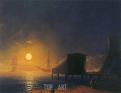 Aivazovsky | Moonlit Pier, 1853