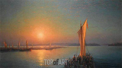 Varangians on the Dnieper, 1876 | Aivazovsky| Painting Reproduction