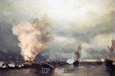 Aivazovsky | Battle of Vyborg Bay, 25 June 1790, 1846