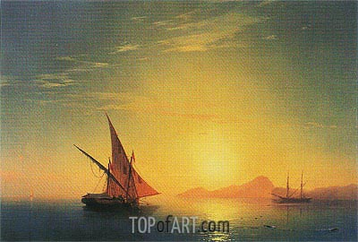 Swimmers at Dawn, undated | Aivazovsky | Painting Reproduction