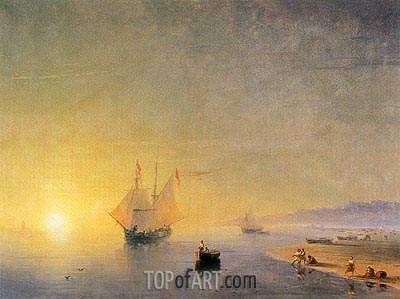 Turkish Coastal Scene, 1874 | Aivazovsky | Painting Reproduction