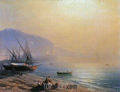 The Sea Shore, 1874 | Aivazovsky | Painting Reproduction