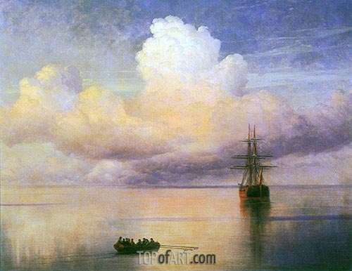 Calm Sea, 1872 | Aivazovsky | Painting Reproduction