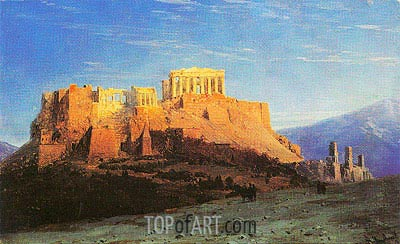 The Acropolis in Athens, undated | Aivazovsky| Painting Reproduction