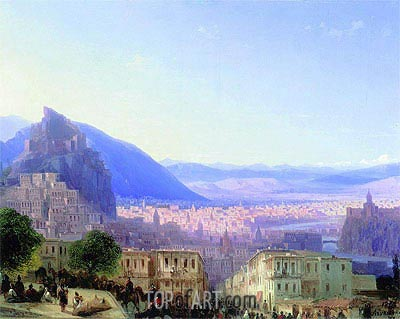 View of Tiflis, 1868 | Aivazovsky | Painting Reproduction