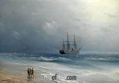 Calm Waters, 1875 | Aivazovsky | Painting Reproduction