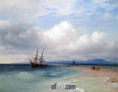 Aivazovsky | Shipping Along the Crimean Coast, 1872
