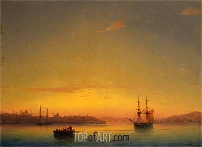 Constantinople at Dawn, 1881 | Aivazovsky | Painting Reproduction