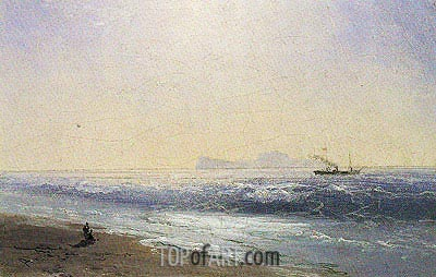 View of Capri, 1895 | Aivazovsky | Painting Reproduction
