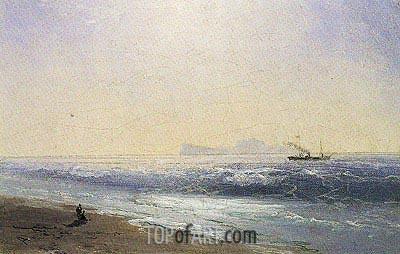 Aivazovsky | View of Capri, 1895