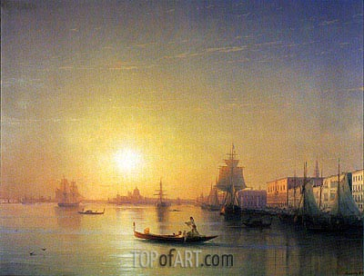 Venice, 1874 | Aivazovsky | Painting Reproduction
