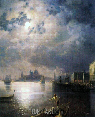 Aivazovsky | Byron in Venice, undated