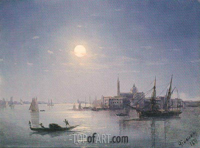 Venice, 1873 | Aivazovsky | Painting Reproduction