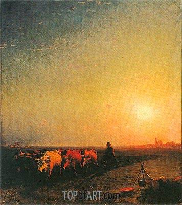 Aivazovsky | The Ox Plough, 1865