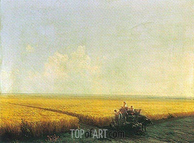 Harvest in the Crimea, undated | Aivazovsky | Painting Reproduction