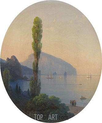 Ayu Dag in the Crimea, 1869 | Aivazovsky | Gemälde Reproduktion
