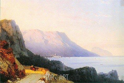 Aivazovsky | Ayu Dag in the Crimea, 1863