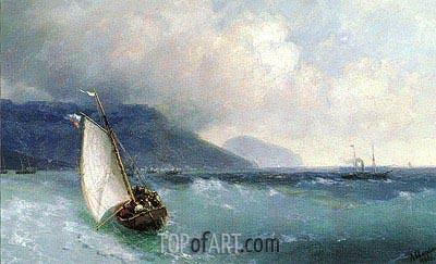 Aivazovsky | Sailing Boat off Yalta, Ayu Dag beyond, 1893