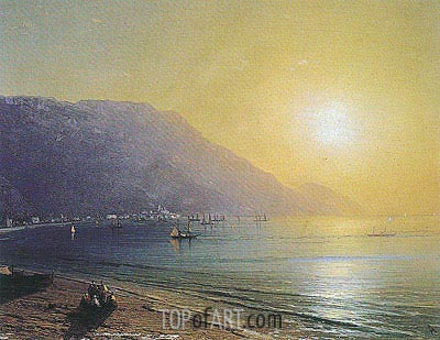 The Crimean Coast with Ayu Dag behind, undated | Aivazovsky | Painting Reproduction